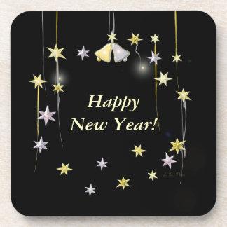 Burbujas del Año Nuevo - hacer estallar el corcho Posavasos De Bebidas