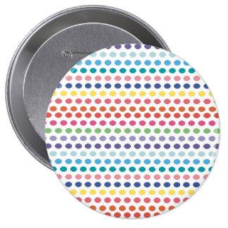 Burbujas del arco iris pin redondo de 4 pulgadas