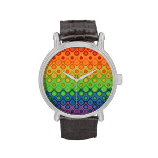 Burbujas del arco iris reloj