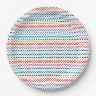 Burbujas del arco iris plato de papel 22,86 cm