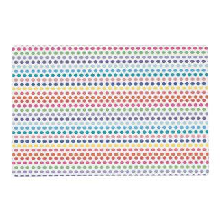 Burbujas del arco iris tapete individual