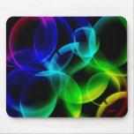 Burbujas del arco iris tapetes de ratones