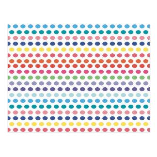 Burbujas del arco iris tarjetas postales