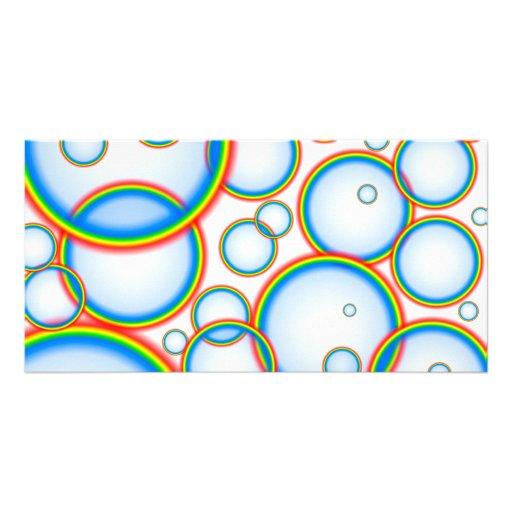 Burbujas del arco iris tarjetas personales