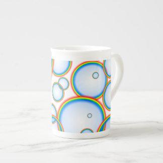 Burbujas del arco iris tazas de china