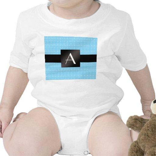 Burbujas del azul del monograma trajes de bebé