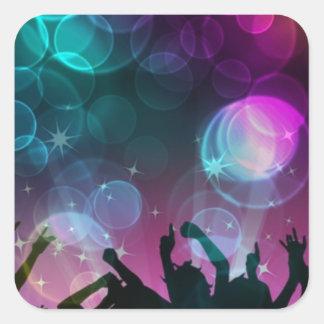 ¡Burbujas del baile! Pegatina Cuadrada