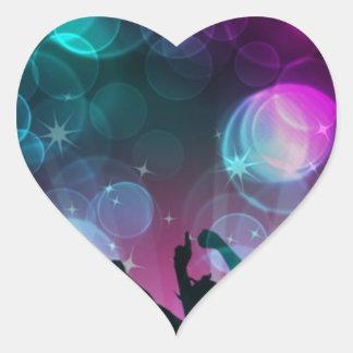 ¡Burbujas del baile! Pegatina En Forma De Corazón