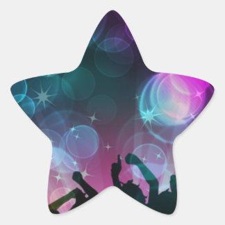 ¡Burbujas del baile! Pegatina En Forma De Estrella