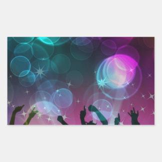 ¡Burbujas del baile! Pegatina Rectangular
