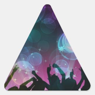¡Burbujas del baile! Pegatina Triangular