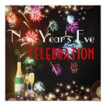 Burbujas del champán de los fuegos artificiales invitacion personal