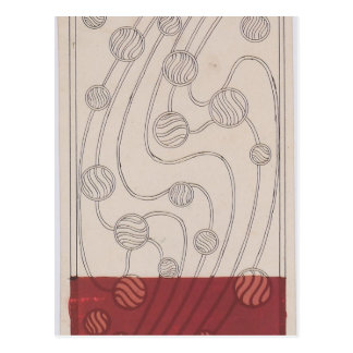 Burbujas del diseño de la manta de Koloman Moser- Postal