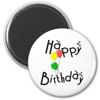 Burbujas del feliz cumpleaños - imán D7