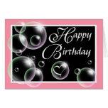 Burbujas del feliz cumpleaños - tarjeta de felicit