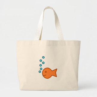 Burbujas del Goldfish Bolsa Tela Grande