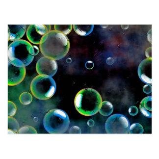 Burbujas del Grunge Tarjetas Postales