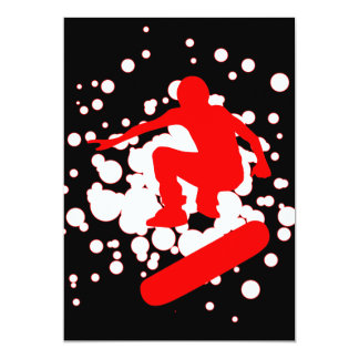 burbujas del monopatín invitación 12,7 x 17,8 cm