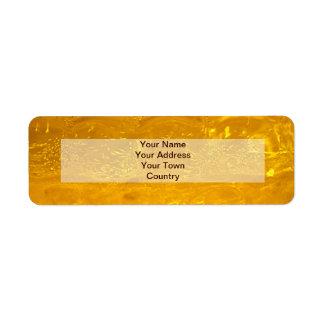 Burbujas del oro etiqueta de remitente