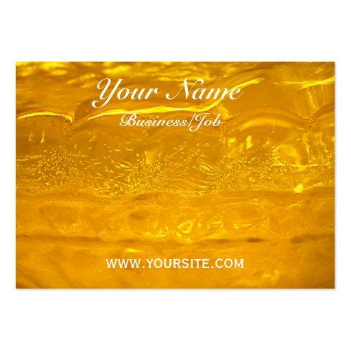 Burbujas del oro tarjetas de visita grandes