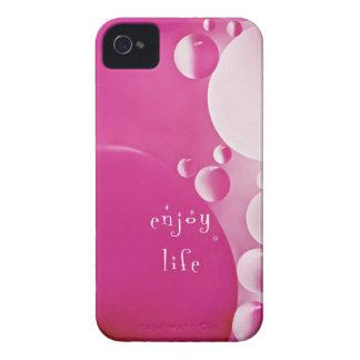 burbujas del rosa del caso de iphone4-4s iPhone 4 Case-Mate protectores