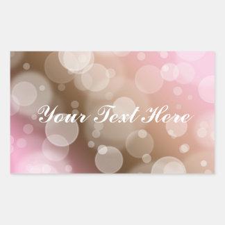 Burbujas del rosa en colores pastel pegatina rectangular