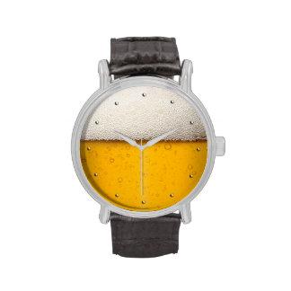 Burbujas divertidas de la cerveza relojes de pulsera