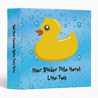 """Burbujas Ducky/azules de goma lindas Carpeta 1 1/2"""""""