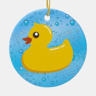 Burbujas Ducky/azules de goma lindas Adorno Redondo De Cerámica