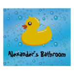 Burbujas Ducky/azules de goma lindas Impresiones
