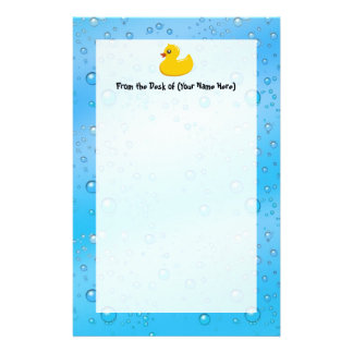 Burbujas Ducky/azules de goma lindas Papeleria De Diseño