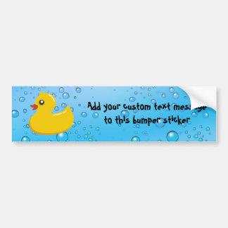 Burbujas Ducky/azules de goma lindas Pegatina Para Auto