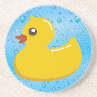 Burbujas Ducky/azules de goma lindas Posavasos Diseño