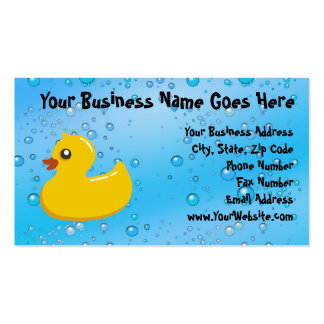 Burbujas Ducky/azules de goma lindas Plantilla De Tarjeta De Negocio