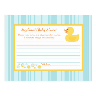 Burbujas Ducky de goma de la tarjeta programable d Tarjeta Postal