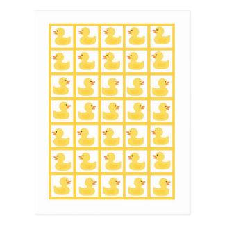 Burbujas Ducky de goma de los marcadores de la tar Tarjetas Postales