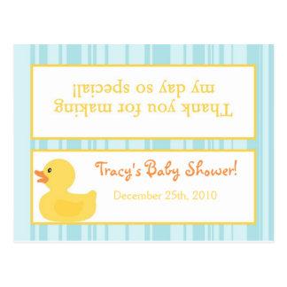 Burbujas Ducky de goma del primero del bolso de la Tarjeta Postal