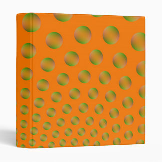 Burbujas en carpeta anaranjada y verde