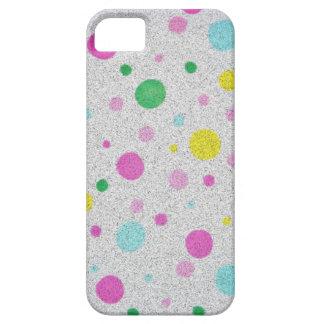 Burbujas en colores pastel peludas de los lunares iPhone 5 protectores
