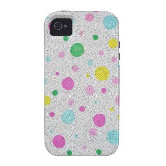Burbujas en colores pastel peludas de los lunares iPhone 4 carcasa