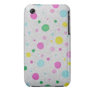 Burbujas en colores pastel peludas de los lunares iPhone 3 Case-Mate carcasa