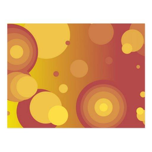 Burbujas en el fuego postales