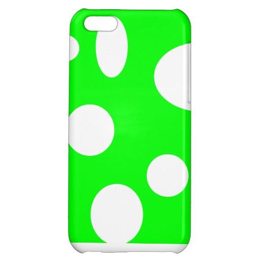 Burbujas en el verde de neón