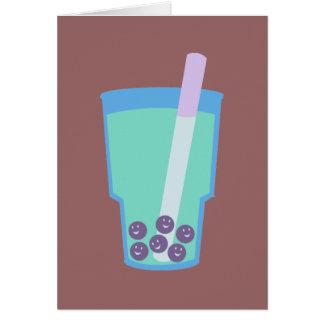 Burbujas felices del té de Boba Tarjeta De Felicitación