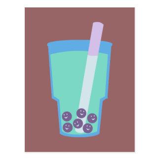 Burbujas felices del té de Boba Tarjeta Postal