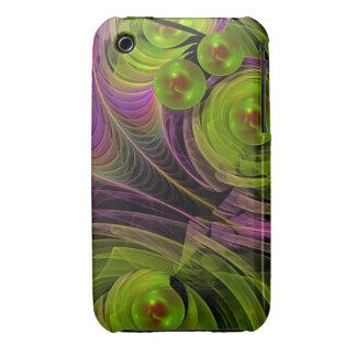 Burbujas flotantes, caso abstracto del fractal Case-Mate iPhone 3 carcasa