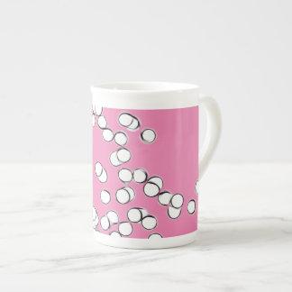 Burbujas flotantes en MU rosada Taza De Porcelana