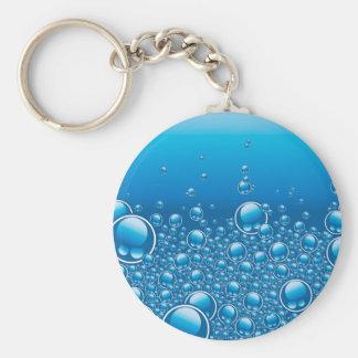 Burbujas frescas subacuáticas llavero redondo tipo pin