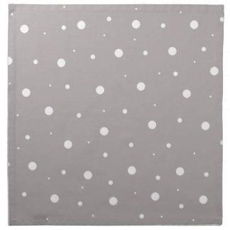 Burbujas grises servilletas imprimidas
