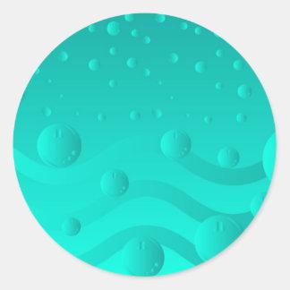 Burbujas III Pegatina Redonda